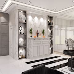 Semi-Detached Houses Design - Senibong Villa Johor,Malaysia:  Living room by Enrich Artlife & Interior Design Sdn Bhd, Modern