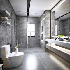 Semi-Detached Houses Design - Senibong Villa Johor,Malaysia:  Bathroom by Enrich Artlife & Interior Design Sdn Bhd