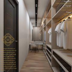 Bungalow Design -Yong Peng Johor Bahru,Malaysia:  Dressing room by Enrich Artlife & Interior Design Sdn Bhd