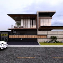 Bungalow Design -Yong Peng Johor Bahru,Malaysia:  Houses by Enrich Artlife & Interior Design Sdn Bhd