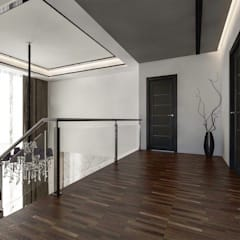 Bungalow Design -Yong Peng Johor Bahru,Malaysia:  Stairs by Enrich Artlife & Interior Design Sdn Bhd, Modern