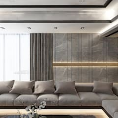 Bungalow Design -Yong Peng Johor Bahru,Malaysia:  Living room by Enrich Artlife & Interior Design Sdn Bhd