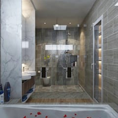 Bungalow Design -Yong Peng Johor Bahru,Malaysia:  Bathroom by Enrich Artlife & Interior Design Sdn Bhd