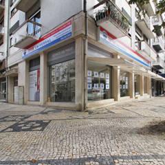 Exterior: Espaços comerciais  por GRENO - ARCHITECTS & CONSULTANTS