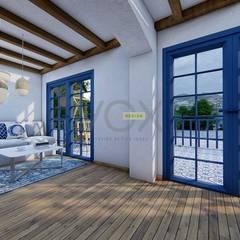 Salas / recibidores de estilo mediterraneo por Vox Design