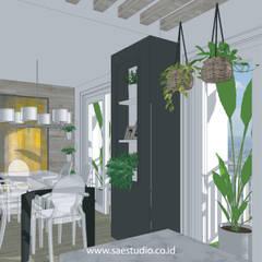 : Ruang Makan oleh SAE Studio (PT. Shiva Ardhyanesha Estetika),