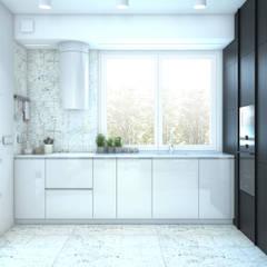 APARTAMENT BEMA: styl , w kategorii Aneks kuchenny zaprojektowany przez NA NO WO ARCHITEKCI