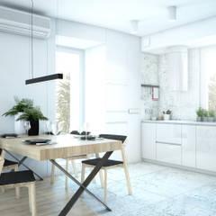 APARTAMENT BEMA: styl , w kategorii Jadalnia zaprojektowany przez NA NO WO ARCHITEKCI