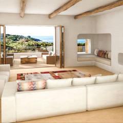 Vivienda Unifamilar - Ibiza - España: Livings de estilo  por MADBA design & architecture