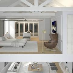 Vivienda Unifamilar - Estocolmo - Suecia: Dormitorios de estilo  por MADBA design & architecture
