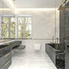 Vivienda Unifamilar - Estocolmo - Suecia: Baños de estilo  por MADBA design & architecture