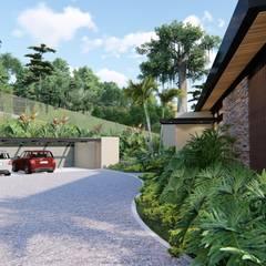 Casa de campo calima / astratto  : Casas campestres de estilo  por astratto