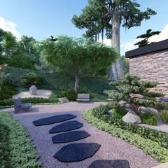 Casa de campo calima / astratto  : Jardines de piedra de estilo  por astratto