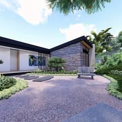 Casa de campo calima / astratto  : Estanques de jardín de estilo  por astratto