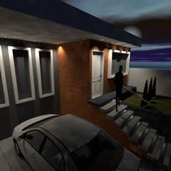 Renovación de fachada y antejardín para vivienda: Casas unifamiliares de estilo  por Arquitecto Harvin Sanchez Areniz