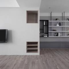 Livings de estilo  por 知域設計
