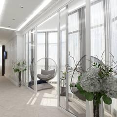 Дизайн пятикомнатной квартиры 190 кв. м в классическом стиле: Окна в . Автор – Группа Компаний 'Фундамент'