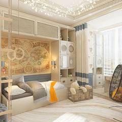 Dormitorios infantiles de estilo  por Группа Компаний 'Фундамент',