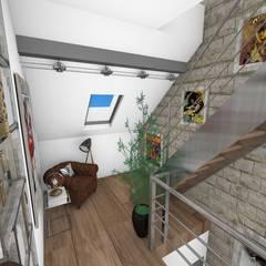 Dégagement: Couloir et hall d'entrée de style  par Crhome Design