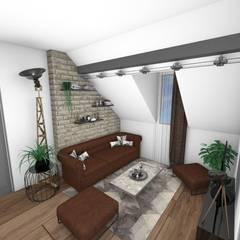 Duplex: Salon de style  par Crhome Design