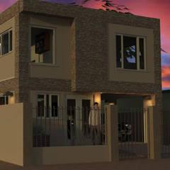 Fachada vivienda render 3D: Casas de estilo  por Cosmoservicios SAS