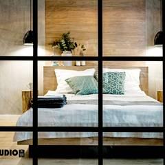 Loft na wynajem - zdjęcia z realizacji projektu: styl , w kategorii Sypialnia zaprojektowany przez MIKOŁAJSKAstudio