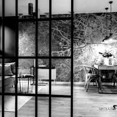 Loft na wynajem - zdjęcia z realizacji projektu: styl , w kategorii Jadalnia zaprojektowany przez MIKOŁAJSKAstudio