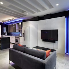 Karr Pad: modern Media room by KUBE Architecture