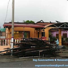 Fire Insurance Claim:  Terrace by Sam Contractors Ipoh, Asian
