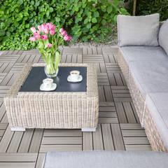 Quadrotta in legno e pvc HORTUS WOVEN - White Stitch: Giardino in stile  di Arredo-Giardino.com