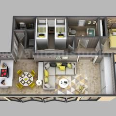 3d House Floor plan Designs, ideas, Images By Yantram 3d animation studio - Atlanta, USA:  Floors by Yantram Architectural Design Studio