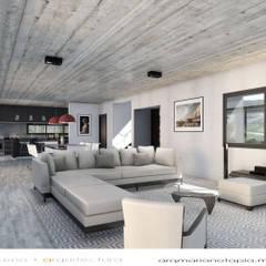 ESTAR - COMEDOR: Livings de estilo  por mgt_Estudio de  Arquitectura + Diseño