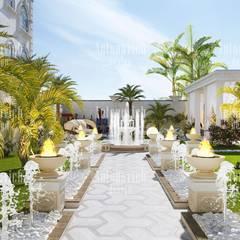 Landscape design and architecture from Katrina Antonovich:  Garden by Luxury Antonovich Design, Classic