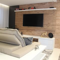 Media room by PB Arquitetura, Eclectic