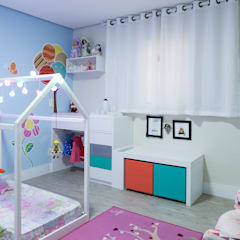 eclectic Nursery/kid's room by P.B Arquitetura