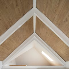 Gable roof by FERREIRARQUITETOS, Minimalist Wood Wood effect