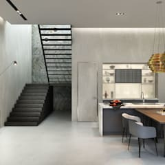 Современный лофт с отдельным входом: Лестницы в . Автор – Studio 25