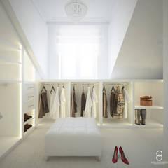 Closets de estilo moderno por ANNA ORLIKOWSKA ARCHITEKTURA WNĘTRZ
