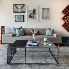 SALA Y COMEDOR: Salas / recibidores de estilo moderno por DMS Arquitectas
