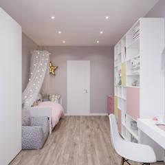 غرفة الاطفال تنفيذ Студия архитектуры и дизайна Дарьи Ельниковой,