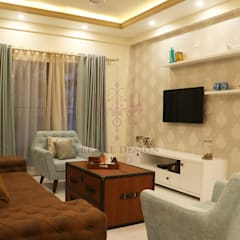 2 BHK Apartment of Mr Santosh Nambiath Bangalore Country style living room by Cee Bee Design Studio Country