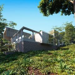 Дом в Сочи: Дома на одну семью в . Автор – Архитектурное бюро, Минимализм