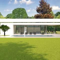 Modernistisch zwembadpaviljoen: moderne Huizen door Brand BBA I BBA Architecten
