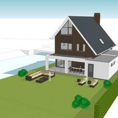 Landelijk moderne woning Papendrecht:  Villa door Brand BBA I BBA Architecten