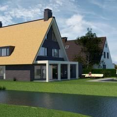 Landelijk moderne woning Rotterdam Hillegersberg:  Villa door Brand BBA I BBA Architecten