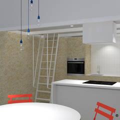 مطبخ ذو قطع مدمجة تنفيذ Angelo Nardozza Architetto,