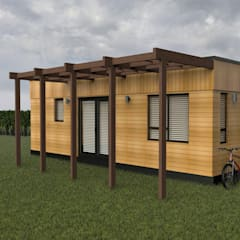 Exterior Outside:  Prefabricated home by Building With Frames