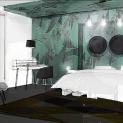 CHAMBRE D'HOTE: Hôtels de style  par STUDIO NOÉMIE BANIER