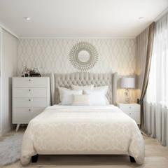 Квартира 51 кв. м. в стиле эклектика в Спб.: Спальни в . Автор – Студия архитектуры и дизайна Дарьи Ельниковой