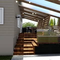 Imagem posterior do deck: Casas familiares  por Studio²